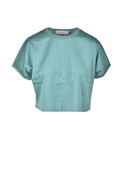Short boxy t-shirt in cotton JUCCA | T-shirt | J3318012314