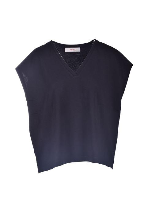 T-shirt oversize in cotone nero JUCCA | T-shirt | J3318014003
