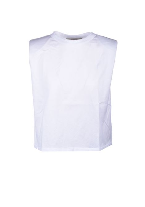 Cotton T-shirt with shoulder pads JUCCA | T-shirt | J3318021001