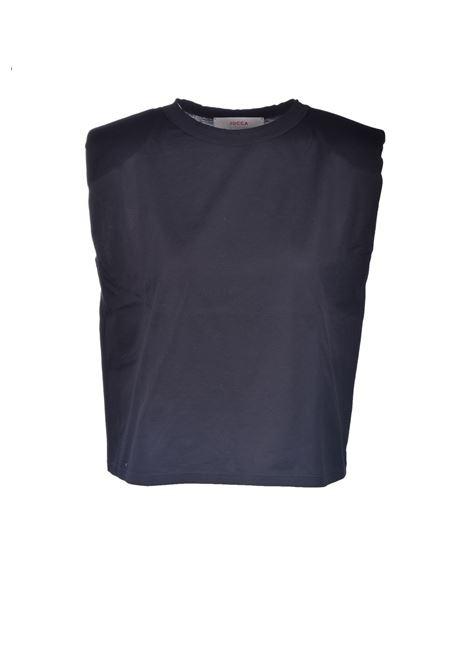 Cotton T-shirt with shoulder pads JUCCA | T-shirt | J3318021003