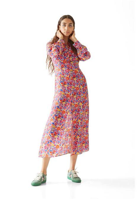 Long shirt dress in pink floral silk blend M MISSONI |  | 2DG00545/2W0070S60AQ