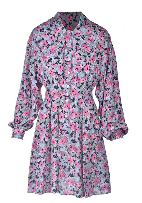 Short pink floral patterned shirt dress M MISSONI |  | 2DG00546/2W006ZS307S