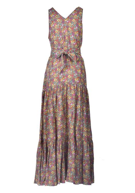 Long dress in multicolor patterned satin. M MISSONI |  | 2DG00607/2W007AS40EK