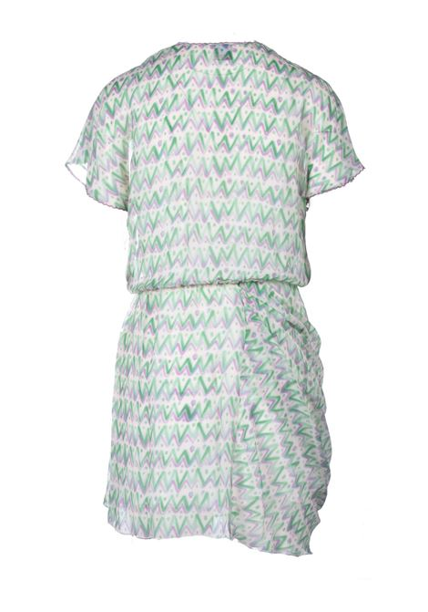 Short dress in green silk with drapery M MISSONI |  | 2DG00611/2W007BS3089