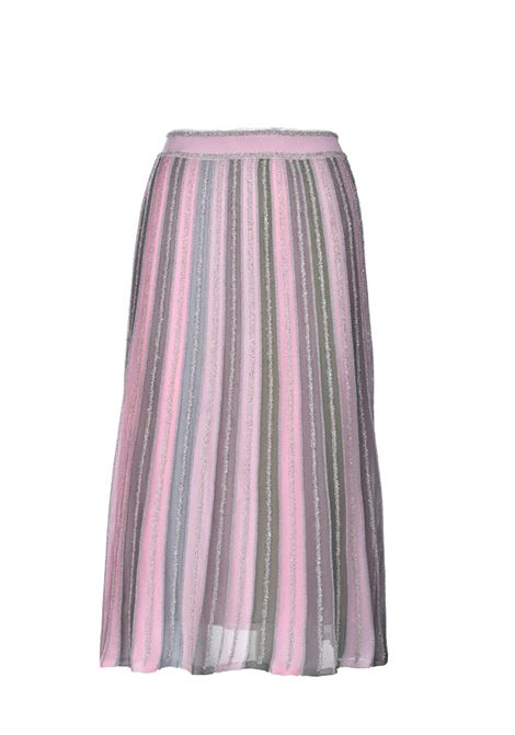 Midi skirt in ribbed lamé knit M MISSONI | Skirts | 2DH00202/2K0090L302P