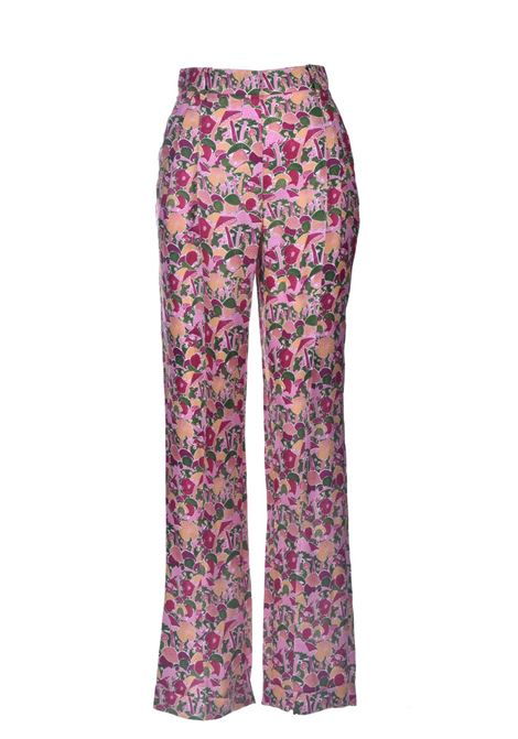 High-waisted trousers in multicolor patterned crepe M MISSONI | Pants | 2DI00256/2W0070S60AQ