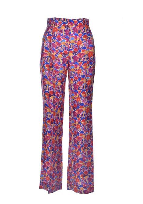 High-waisted trousers in multicolor patterned crepe M MISSONI | Pants | 2DI00256/2W0070S70OS