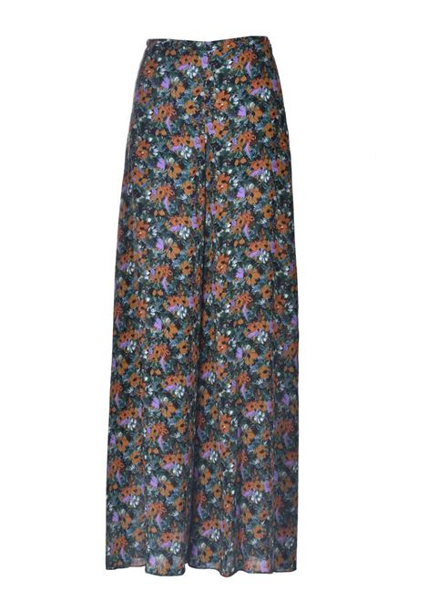 High-waisted trousers in multicolor patterned crepe M MISSONI | Pants | 2DI00261/2W006ZS60AP