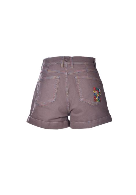 Turtledove denim shorts with turn-ups and embroidery M MISSONI | Shorts | 2DI00285/2W006U71212