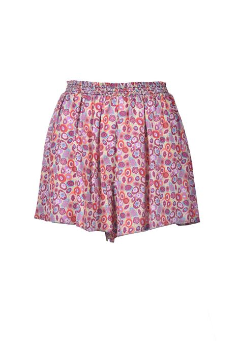 Pink patterned crepe shorts M MISSONI | Shorts | 2DI00294/2W007AS107I
