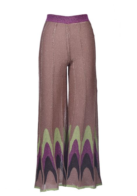 Pleated effect lurex palazzo trousers M MISSONI | Pants | 2DI00306/2K009DL302V