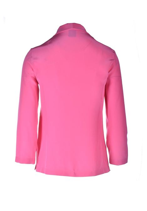 Pink silk shirt with V-neck M MISSONI | Shirts | 2DJ00127/2W001082133
