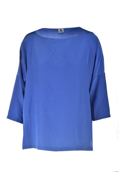 Oversize blouse in electric blue silk M MISSONI | Blouses | 2DJ00128/2W001093964