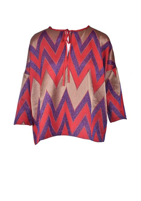 Missoni red zig zag lurex knit blouse M MISSONI | Blouses | 2DJ00141/2J005ML401Q