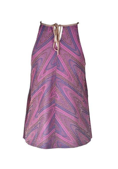 Purple lurex jersey top with golden laces M MISSONI | Tops | 2DK00074/2J0051L302N