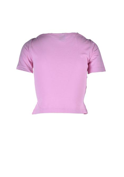 Short T-shirt with pink knot M MISSONI | T-shirt | 2DL00087/2J005G32804