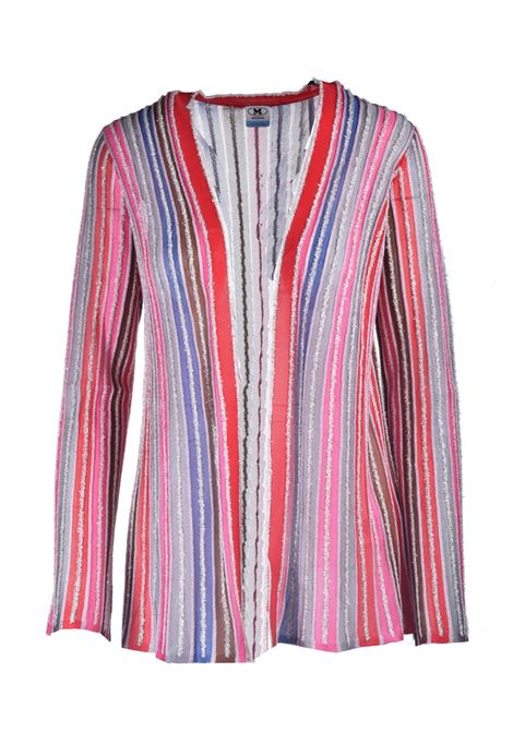 Missoni multicolor lurex striped open cardigan M MISSONI | Knitwear | 2DM00149/2K0090L401M