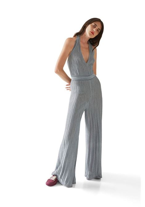 Knitted jumpsuit in silver lamé striped knit M MISSONI |  | 2DO00055/2K008YL903T