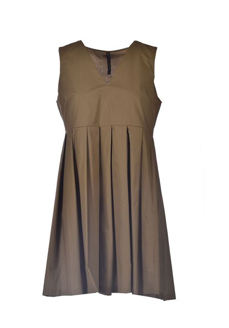 Sleeveless dress with military V-neck MANILA GRACE |  | A110CUMA014