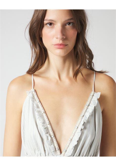 Long striped empire dress with straps MANILA GRACE |  | A178CIMA003