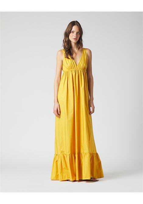 Long dress with V-neck and flounce MANILA GRACE |  | A385CUMA046