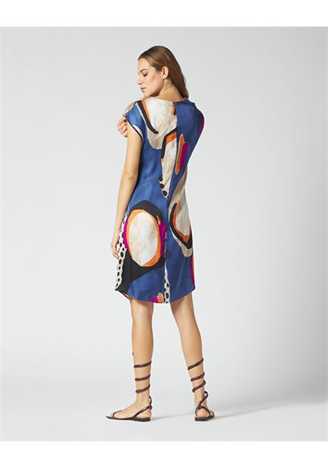 Short tunic dress in printed crepe MANILA GRACE |  | A394VSMA011