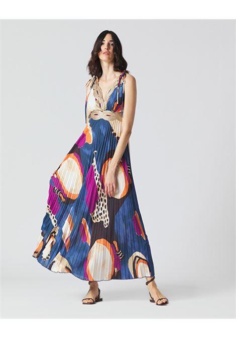 Long pleated dress with braids MANILA GRACE |  | A397PSMA011