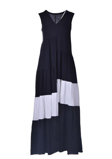Black and white asymmetrical maxi dress MANILA GRACE |  | A404CUMA052