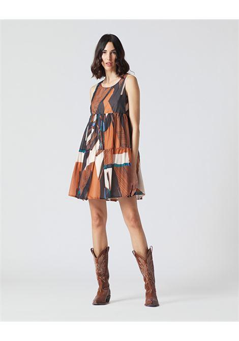 Short dress with fantasy print flounce MANILA GRACE |  | A412CSMA045