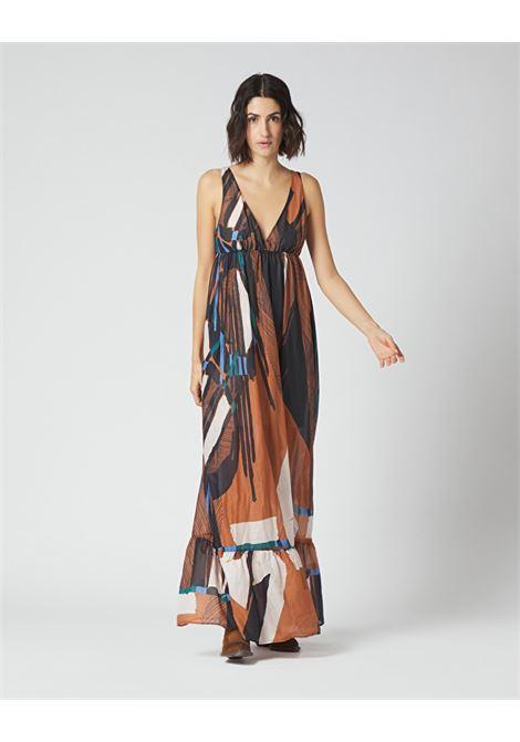 Long dress with fantasy print flounce MANILA GRACE |  | A415CSMA045
