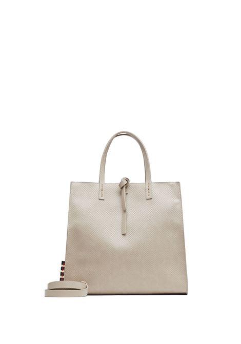 Felicia Medium handbag with dove gray lizard effect MANILA GRACE | Bags | B002EUMA042