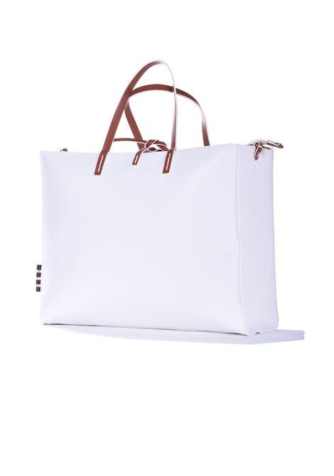 Felicia big shopping bag in white eco-leather MANILA GRACE | Bags | B016EUMA029