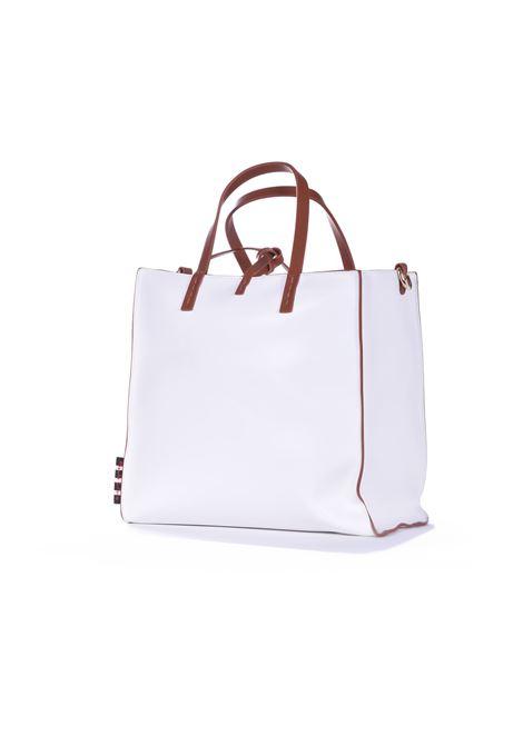 Felicia medium handbag in white eco-leather MANILA GRACE | Bags | B025EUMA029