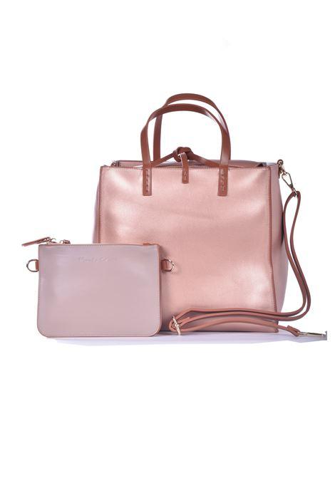 Medium Felicia handbag in bronze eco-leather MANILA GRACE | Bags | B025EUMA061
