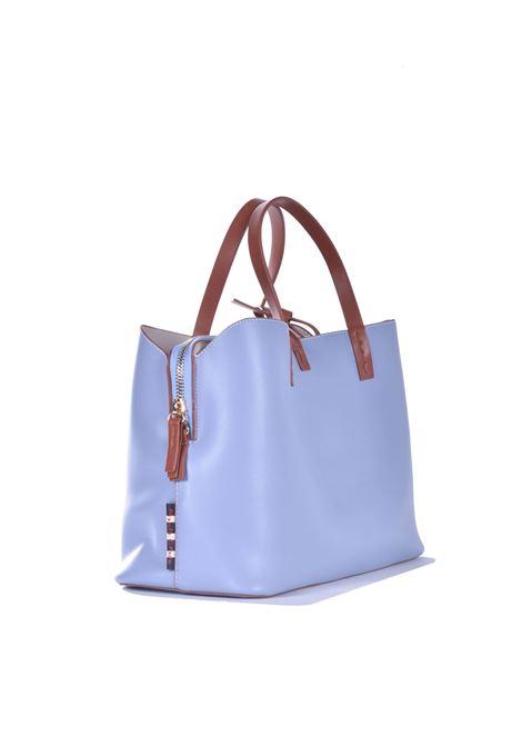 Fiona Small handbag in light blue eco-leather MANILA GRACE | Bags | B028EUMA015