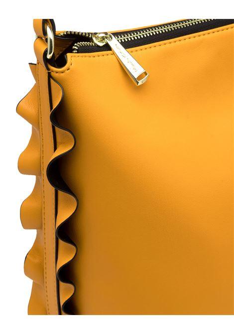 Borsa a spalla Daisy Hobo con rouches laterali giallo MANILA GRACE | Borse | B205EUMA019