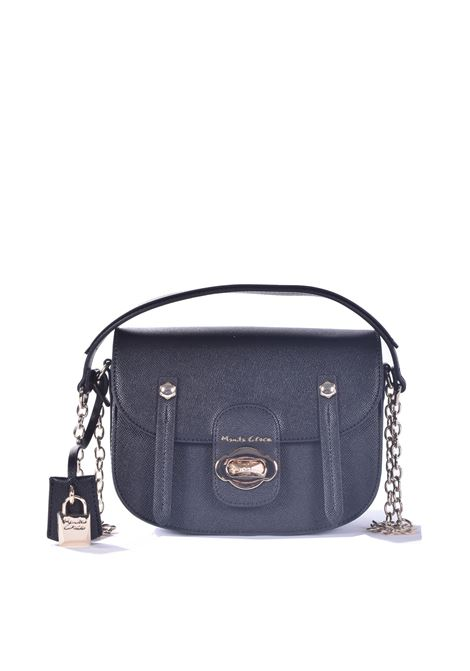 Poppy bag with shoulder strap in black eco-leather MANILA GRACE | Bags | B231EUMA001