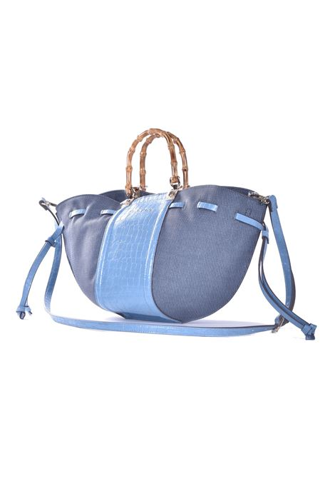 Kalika tote bag with shoulder strap in sugar paper eco-leather MANILA GRACE | Bags | B257EUMA067