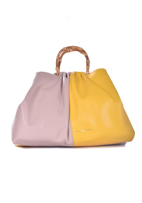 Mellie sachet bag in beige and lemon eco-leather MANILA GRACE | Bags | B261EUMA075
