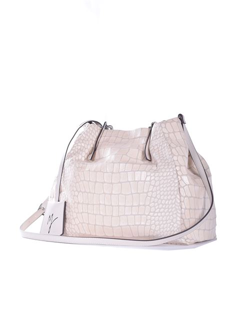 Shoulder bag in eco-leather with crocodile effect MANILA GRACE | Bags | B269ESMA072