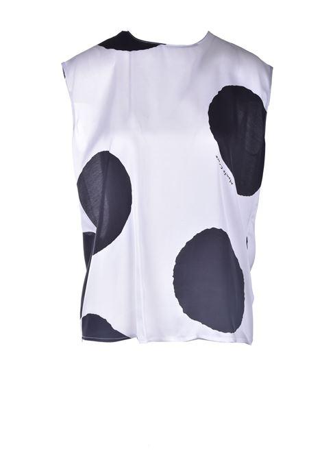 Blusa giromaniche in satin a macro pois MANILA GRACE | Bluse | C053VPMA009