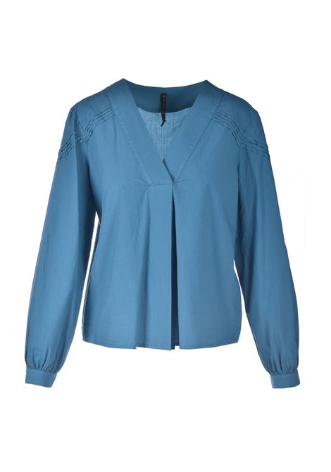 Long-sleeved blouse with small pleats MANILA GRACE | Blouses | C323CUMA047