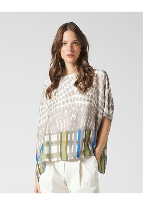 Crepe blouse with geometric pattern MANILA GRACE | Blouses | C511VSMA042