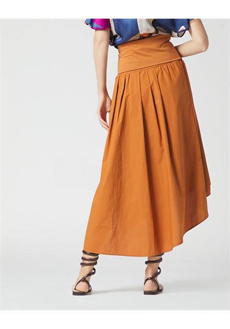 Wide and asymmetrical poplin skirt MANILA GRACE | Skirts | N377CUMA045