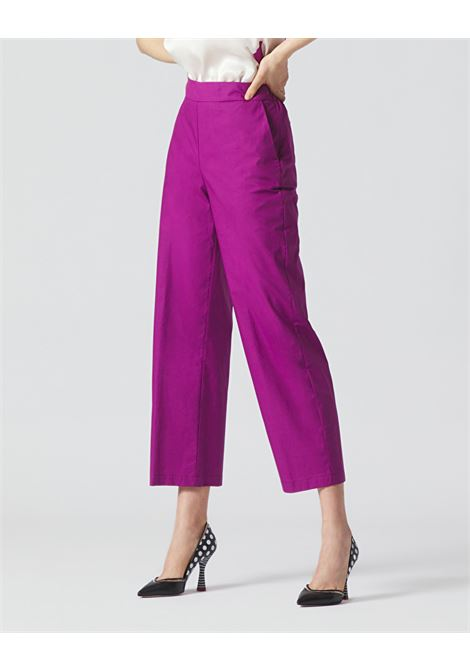 Cropped trousers with elastic on the back MANILA GRACE | Pants | P009CUMA004