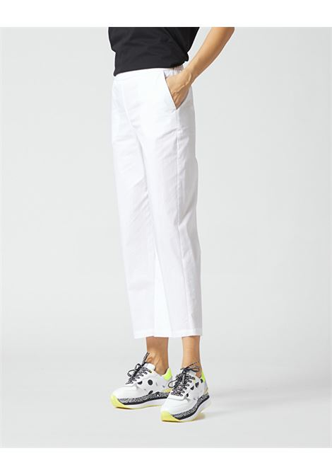 Cropped trousers with elastic on the back MANILA GRACE | Pants | P009CUMA029