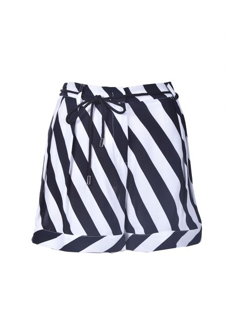 Soft black and white striped shorts MANILA GRACE | Shorts | P039VIMA028