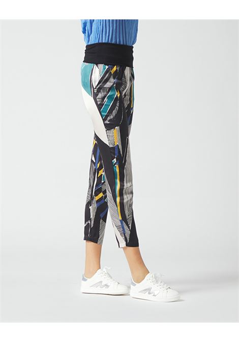 Cropped trousers with ethnic print basque MANILA GRACE | Pants | P295VSMA043