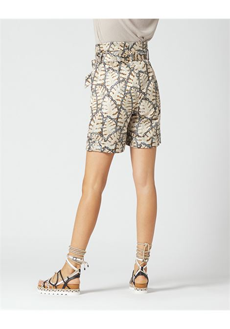 High-waisted jacquard shorts MANILA GRACE | Shorts | P329PJMA014