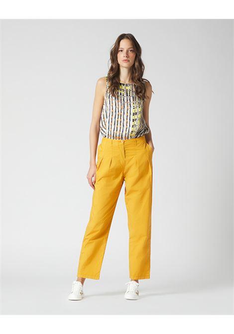 Mustard slouchy trousers MANILA GRACE | Pants | P340CUMA046